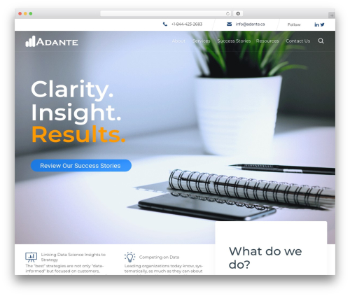 (VamTam) Consulting WordPress template for business - adante.ca