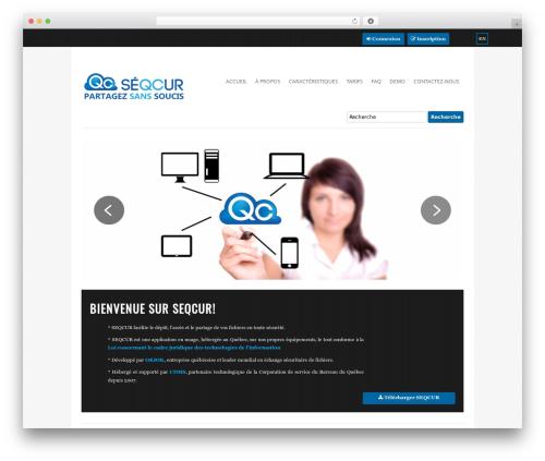 Vimes theme WordPress - seqcur.ca