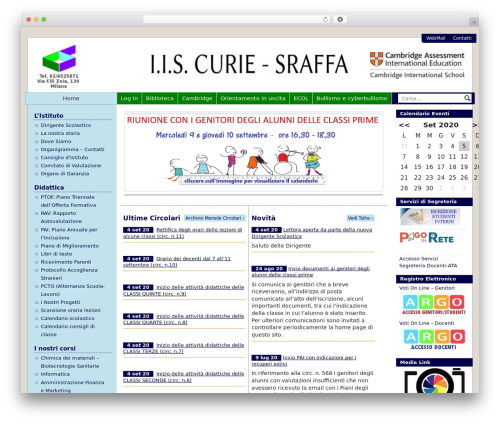 WordPress theme PASW 2015 - iiscuriesraffa.it