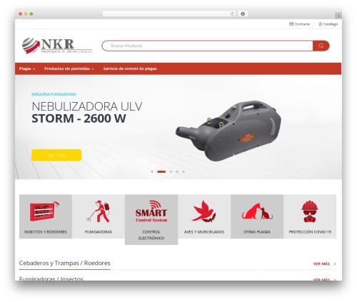 Electro WordPress website template - nkrproducts.com