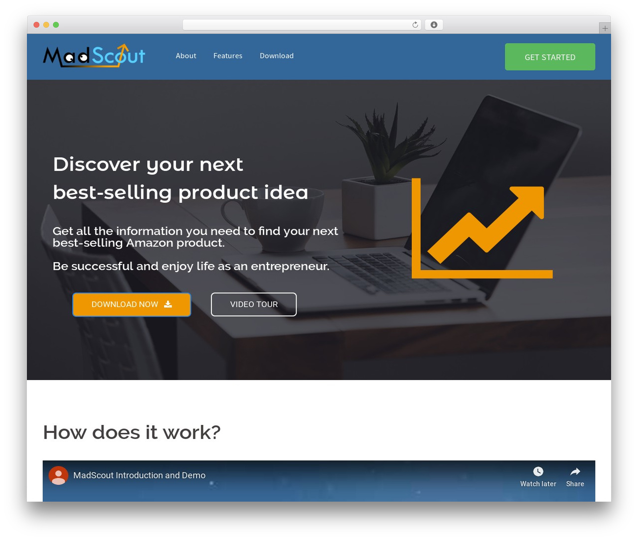 Sydney WordPress template free download - madscout.com