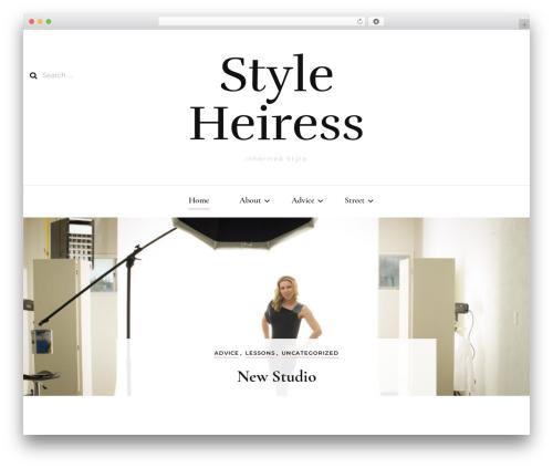 Blossom Fashion fashion WordPress theme - styleheiress.com