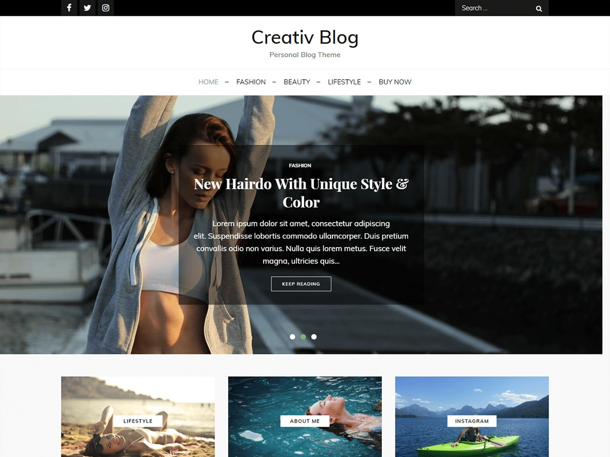 Creativ Blog WordPress blog template