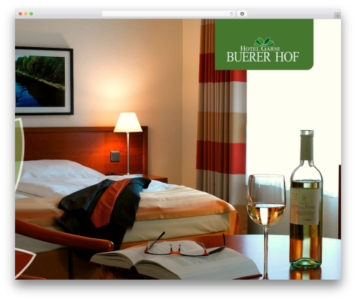 Jarvis 3.9 best hotel WordPress theme - buerer-hof.de