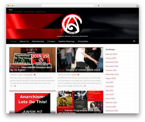 Latest best free WordPress theme - awsm.nz