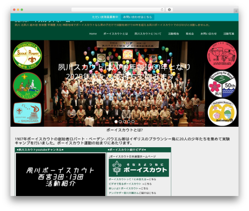 Onetone Pro theme WordPress - shukugawa-scout.net