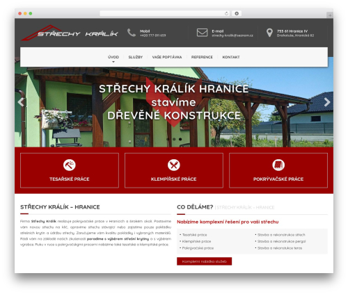 Roofing theme WordPress - strechy-kralik.cz