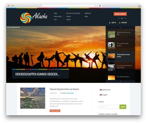 WordPress theme Biosphere - ecodorp-akasha.nl