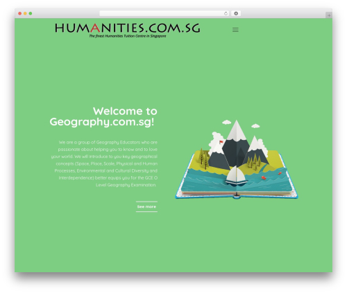 Betheme WordPress theme design - geography.com.sg