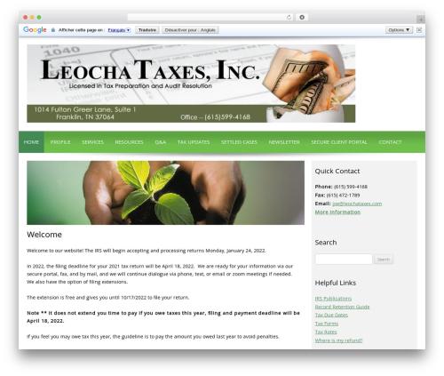 Customized WordPress template - leochataxes.com