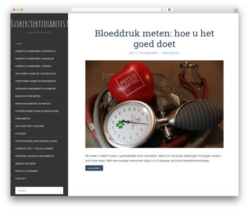 Flat template WordPress free - suikerziektediabetes.nl