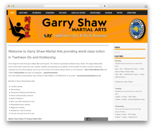 Sporty template WordPress free - shawmartialarts.co.uk