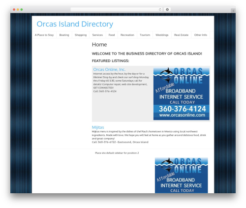 WordPress theme Orcas Online Ads - orcasisland.directory