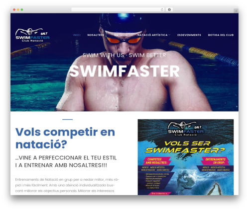 FitPress top WordPress theme - swimfaster.es