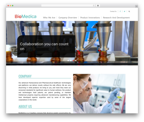 Orao Child WordPress theme - biomedicacorp.com
