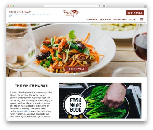 Peach Pubs best restaurant WordPress theme - thewhitehorseharpenden.co.uk