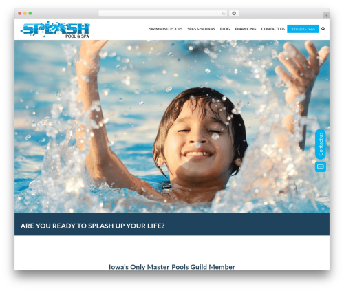 SwimmingPool WordPress template - splashpools.co