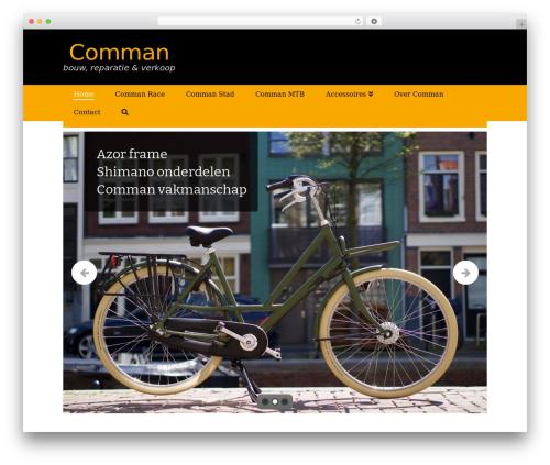 X WordPress website template - commanfietsen.nl