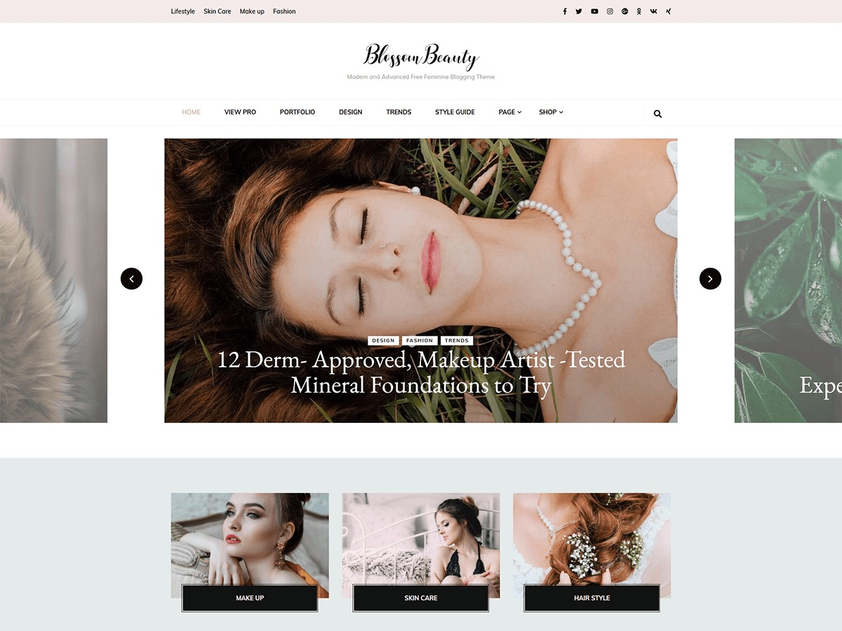 Blossom Beauty WordPress travel theme