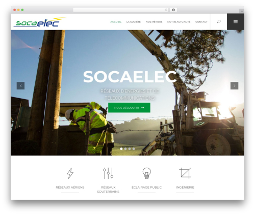 Oxides WordPress theme - socaelec.fr