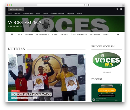 Daily Magazine WordPress theme - vocesfm.co