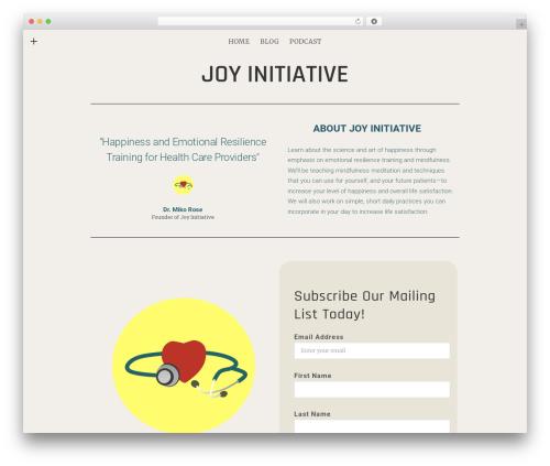 Encore WP theme - joyinitiative.com