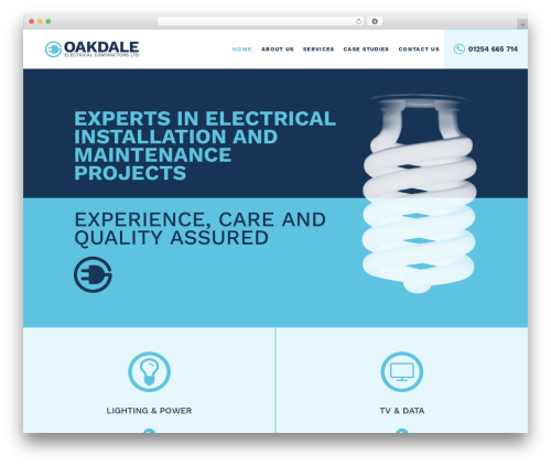 TopFit best WordPress template - oakdaleelectrical.co.uk