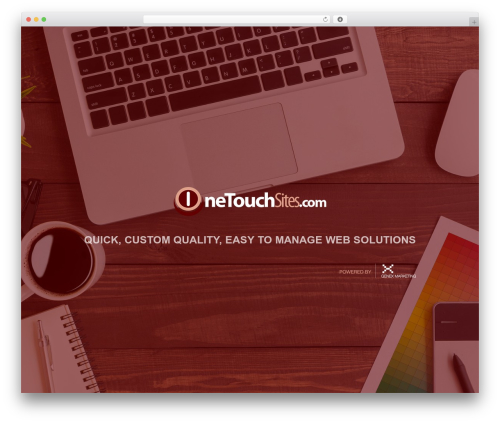 Best WordPress template One Touch Sites Theme - onetouchsites.com