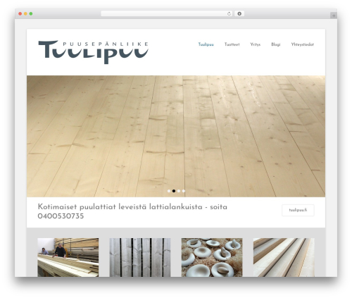 Catch Base Pro WordPress theme design - tuulipuu.fi