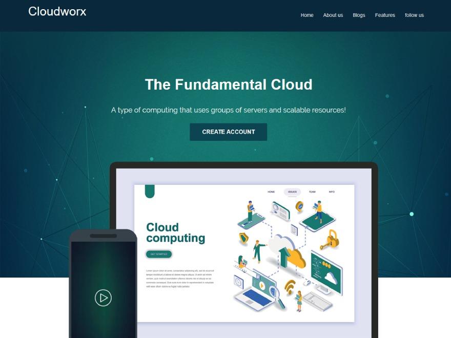 Cloudworx WordPress blog template