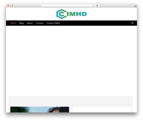 Latest free WordPress theme - cimhd.org