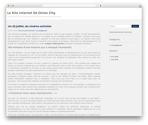 WordPress website template Institution - onioncity.com