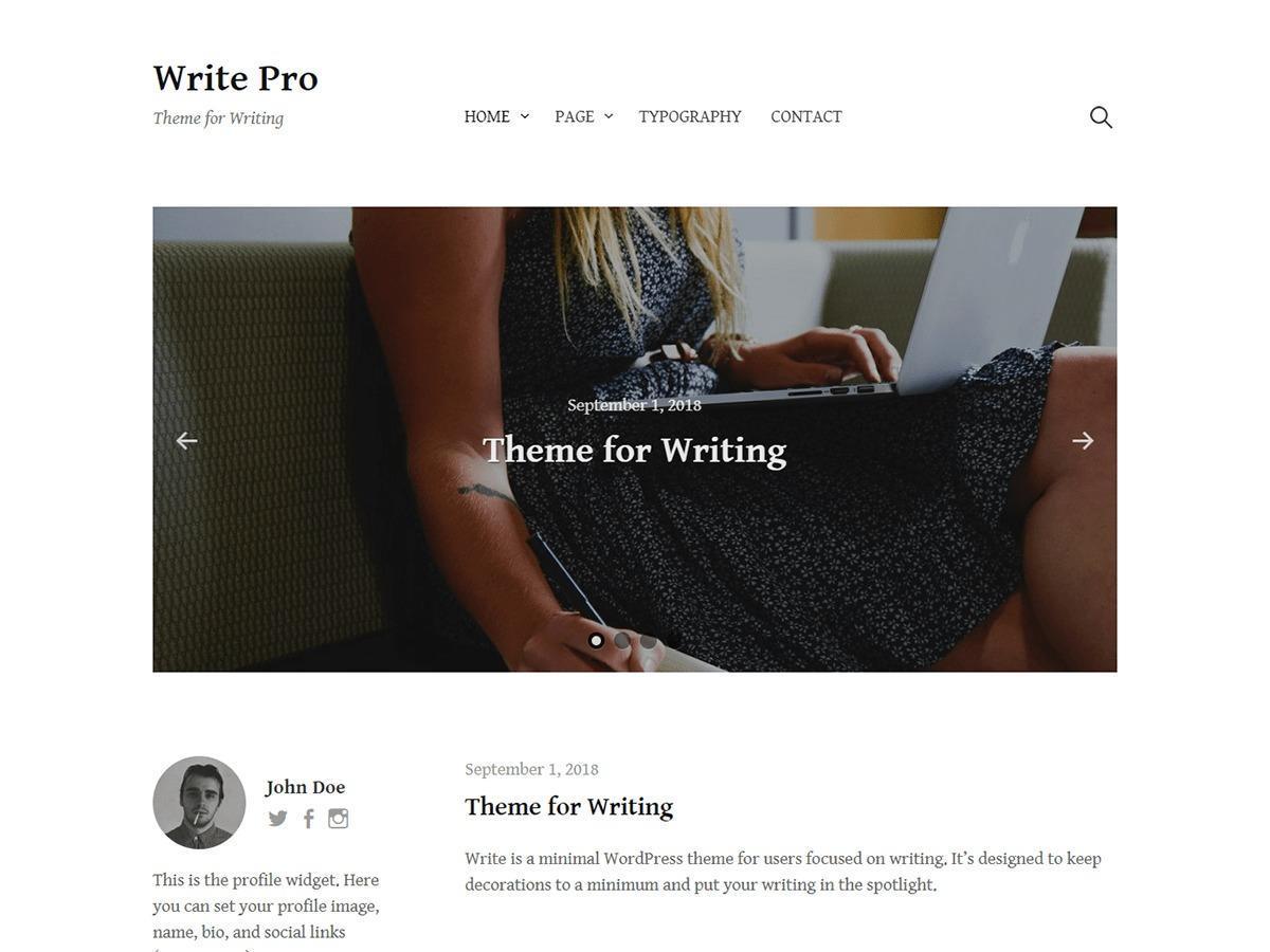 Write Pro best WordPress template