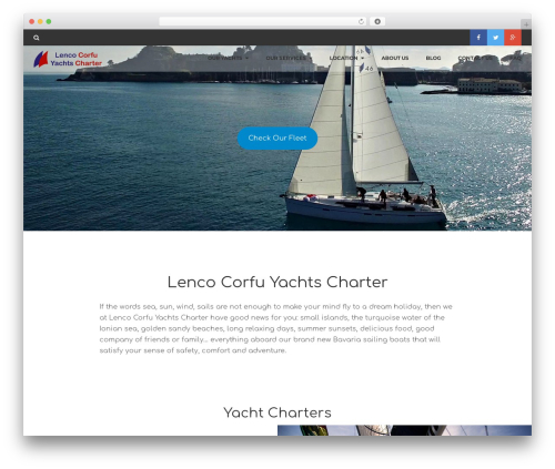 Theme WordPress Rentify - lenco-corfu-yachts.com