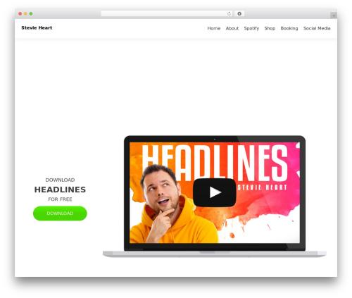 Best WordPress template Zerif Lite - stevieheart.com