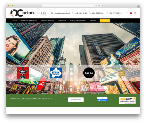 Impreza WordPress page template - orioncolor.cl