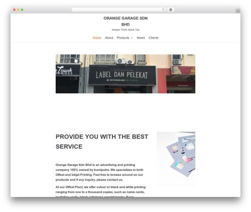 neve WordPress website template - orangegarage.com.my/v2