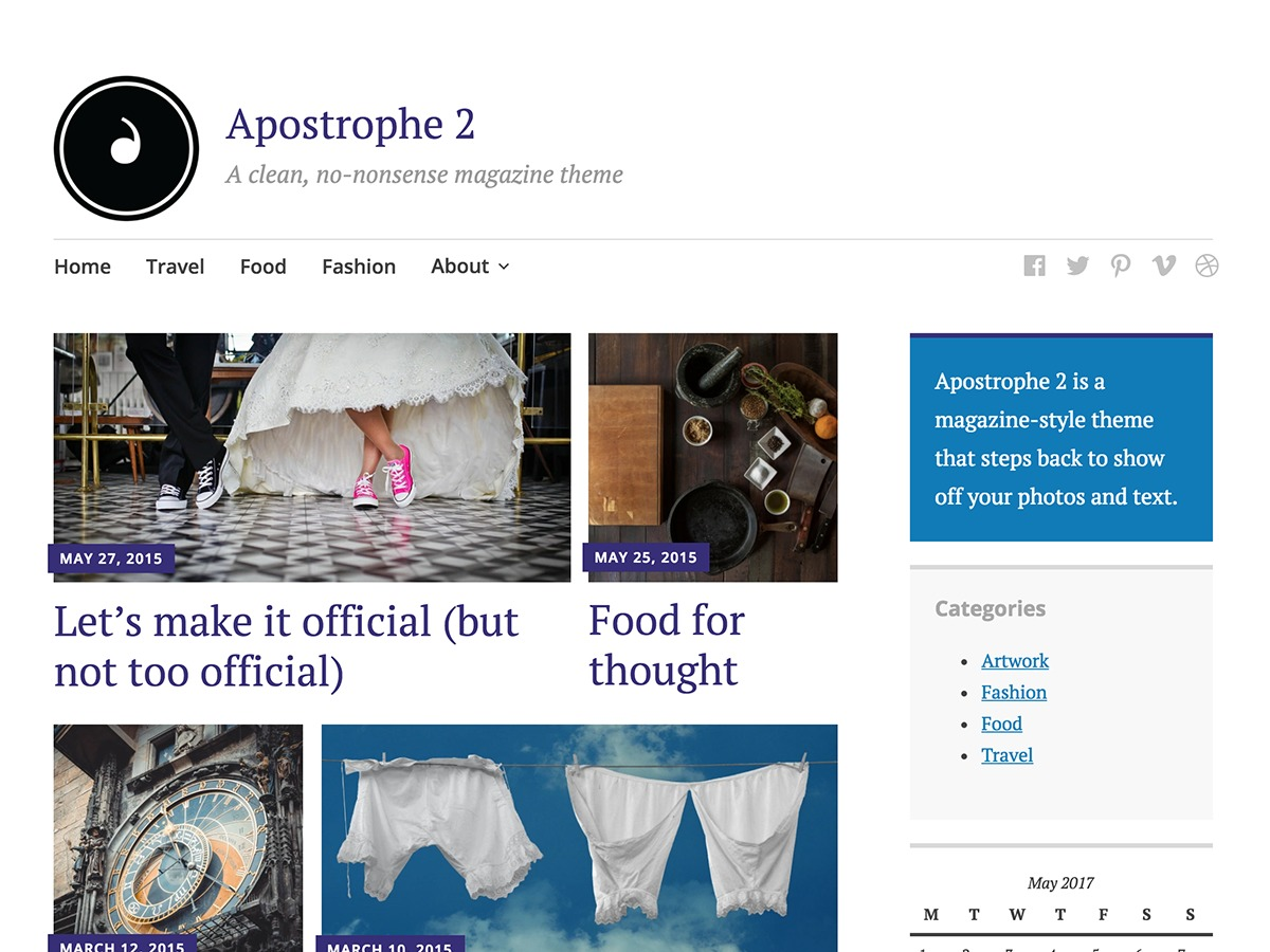 Apostrophe 2 best WordPress magazine theme