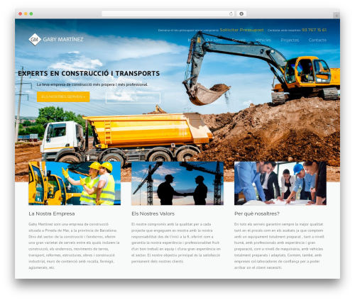 Construction WordPress theme - gabymartinez.cat