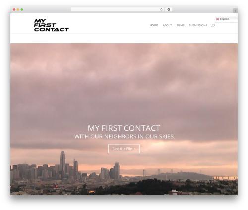 Divi WordPress template - myfirstcontact.net