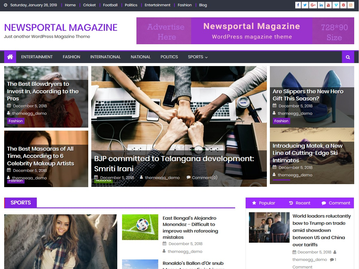 Newsportal Magazine WordPress magazine theme