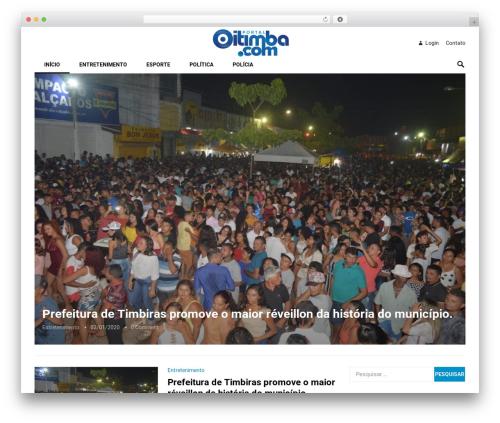 Revolution theme WordPress - oitimba.com.br