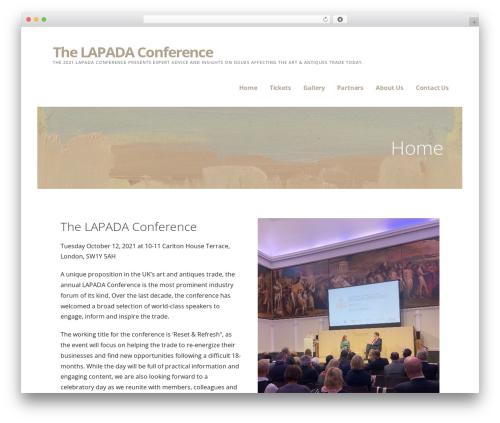 Ascension best WordPress template - lapadaconference.com