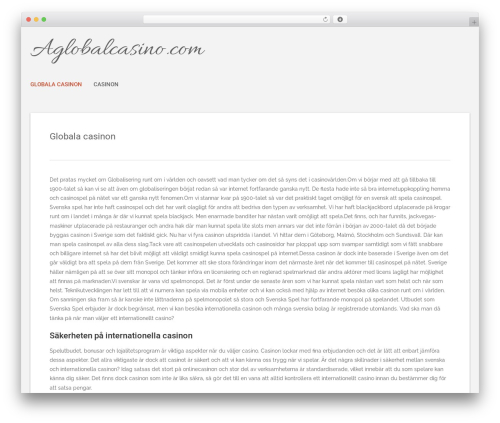 Best WordPress template Polar Lite - aglobalcasino.com
