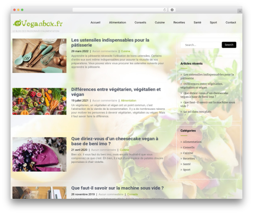 Eco Friendly Lite theme WordPress - veganbox.fr