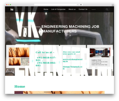 Services WP theme - vkengineering.in
