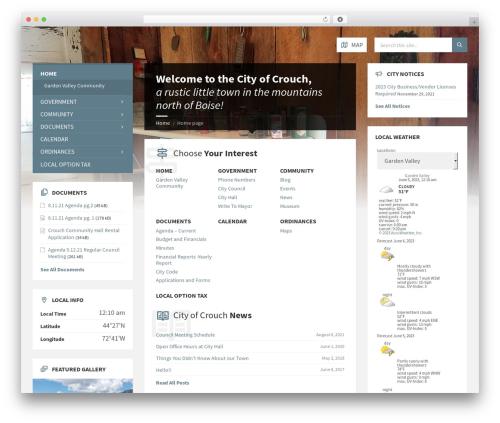 TownPress template WordPress - cityofcrouch.org