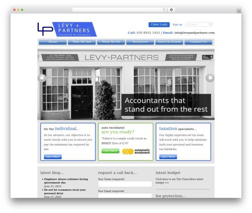 WordPress theme Pells Chartered Accountants - levyandpartners.com