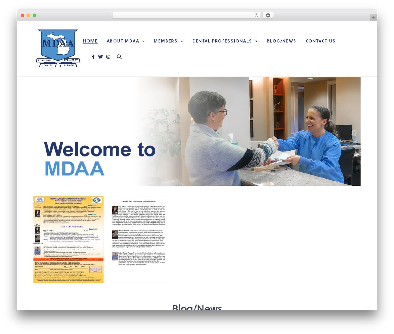 Revolution theme WordPress - midaa.org