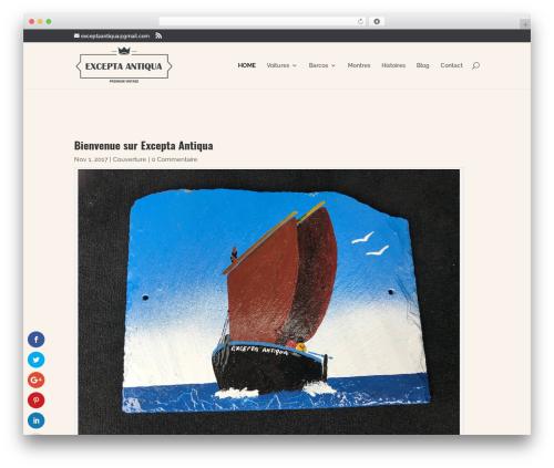 Template WordPress Divi - exceptaantiqua.com